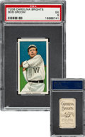 Baseball Cards:Singles (Pre-1930), 1909-11 T206 Carolina Brights Bob Groom PSA EX 5 - Pop Two, None Higher for Brand. ...