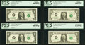 Small Size:Federal Reserve Notes, $1 Federal Reserve Star Notes Ten Examples PCGS Graded.. ... (Total: 10 notes)