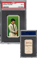 Baseball Cards:Singles (Pre-1930), 1909-11 T206 Broad Leaf 350 George Schirm PSA EX 5 - The Only PSA Graded Example! ...