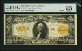 Large Size:Gold Certificates, Fr. 1187* $20 1922 Mule Gold Certificate PMG Very Fine 25.. ...