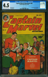 Captain Marvel Adventures #48 (Fawcett Publications, 1945) CGC VG+ 4.5 CREAM TO OFF-WHITE pages