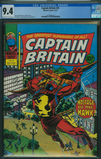 Captain Britain #31 (Marvel, 1977) CGC NM 9.4