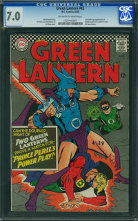 Green Lantern #45 (DC, 1966) CGC FN/VF 7.0 OFF-WHITE TO WHITE pages
