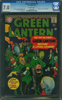 Green Lantern #46 (DC, 1966) CGC FN/VF 7.0 OFF-WHITE pages