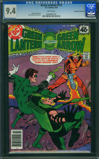 Green Lantern #114 - Don Rosa Collection (DC, 1979) CGC NM 9.4 WHITE pages