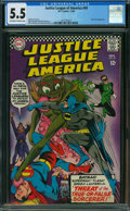 Silver Age (1956-1969):Superhero, Justice League of America #49 (DC, 1966) CGC FN- 5.5 OFF-WHITE TO WHITE pages.