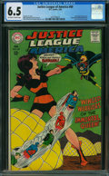 Silver Age (1956-1969):Superhero, Justice League of America #60 (DC, 1968) CGC FN+ 6.5 OFF-WHITE TO WHITE pages.