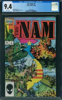 The 'Nam #1 (Marvel, 1986) CGC NM 9.4 WHITE pages