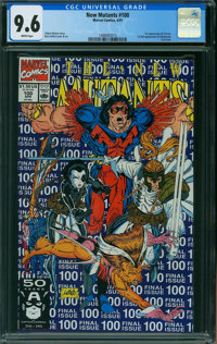 The New Mutants #100 (Marvel, 1991) CGC NM+ 9.6 WHITE pages