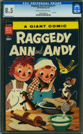 Golden Age (1938-1955):Cartoon Character, Dell Giant Comics Raggedy Ann & Andy #1 (Dell, 1955) CGC VF+ 8.5 Cream to off-white pages.