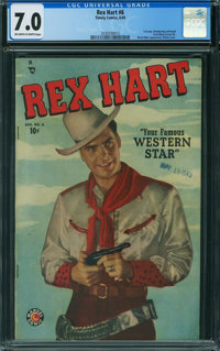Rex Hart #6 (Timely, 1949) CGC FN/VF 7.0 OFF-WHITE TO WHITE pages