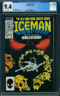 Iceman #4 (Marvel, 1985) CGC NM 9.4 White pages