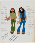 Animation Art:Color Model, Cheech and Chong's Next Movie Color Model Cel and Drawing Group (Universal Studios, 1980).... (Total: 16 Items)