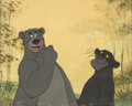 Animation Art:Production Cel, The Jungle Book Baloo and Bagheera Production Cel Setup (Walt Disney, 1967). ...