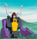 Animation Art:Production Cel, Transformers Production Cel and Painted Background (Marvel/Sunbow, c. 1980s)....