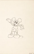 Animation Art:Production Drawing, Mickey Mouse Early Animation Drawing (Walt Disney, c. 1930...