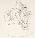 Animation Art:Production Drawing, Two-Gun Mickey Mickey Mouse and Pete...