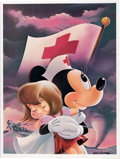 Memorabilia:Poster, Walt Disney Red Cross Commemorative Signed Limited Edition Posters Group of 3 (Walt Disney, 1990).... (Total: 3 Items)