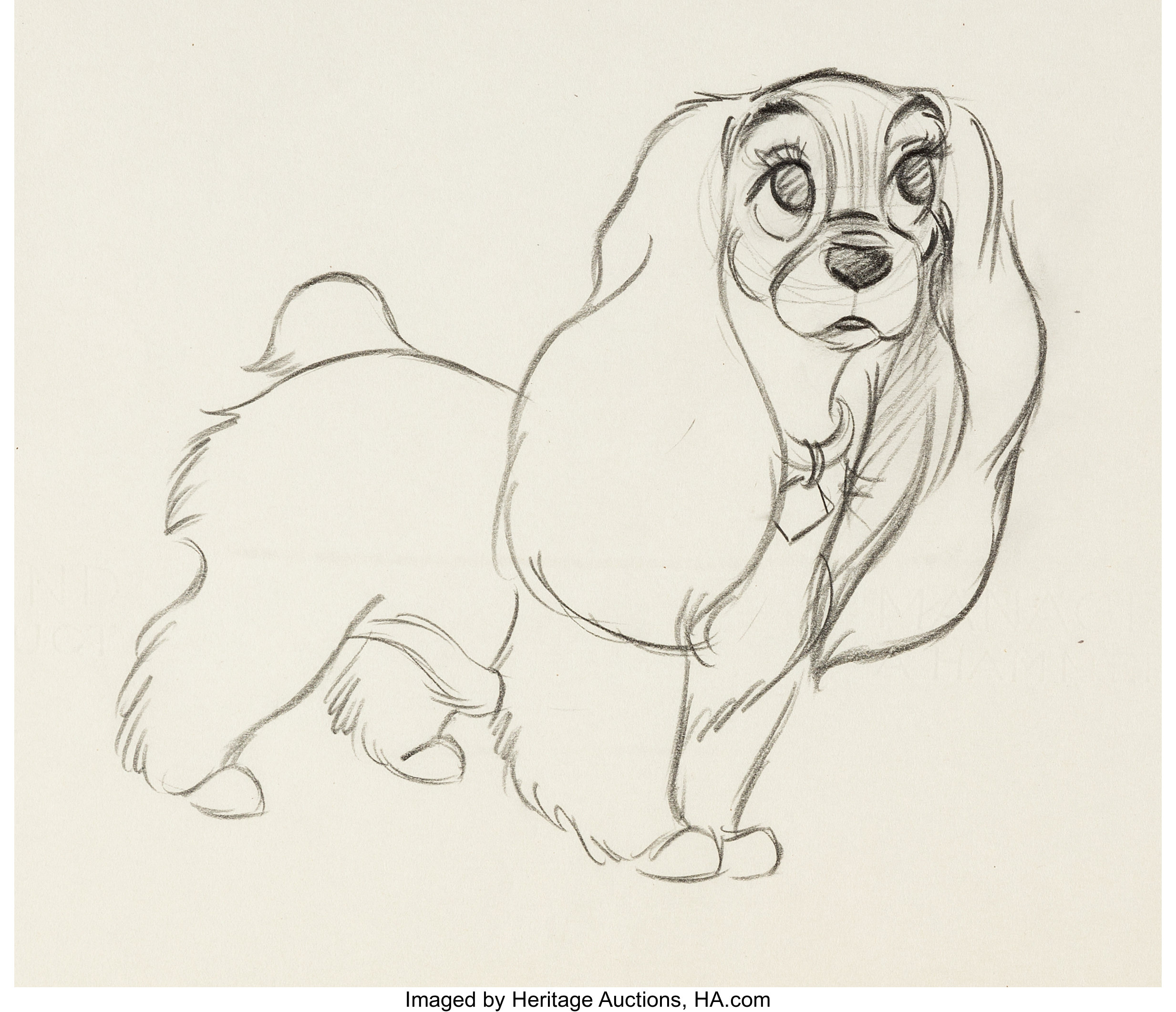 Lady And The Tramp Animation Production Drawing Walt Disney Lot 63690 Heritage Auctions