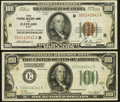 Fr. 1890-D $100 1929 Federal Reserve Bank Note. Very Fine; Fr. 2151-E $100 1928A Dark Green Seal Federal Reserve Note. F...