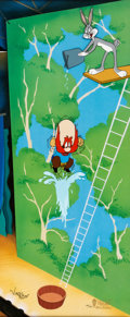 """Animation Art:Limited Edition Cel, """"High Diving Sam"""" Bugs Bunny and Yosemite Sam Limited Edition Cel #140/750 (Warner Brothers, 1994)...."""
