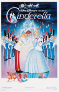 Memorabilia:Poster, Cinderella Theatrical Reissue Poster Owned by Lucille Bliss (Walt Disney, 1987)....