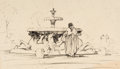 "Animation Art:Production Drawing, ""The Art of Ken Anderson"" - Horse Fountains Illustration O..."