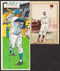 Baseball Cards:Lots, 1952 Berk Ross and 1955 Topps Double Header Jackie Robinson Pair.... (Total: 2 items)