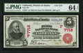 Fairbanks, AK - $5 1902 Red Seal Fr. 587 First National Bank Ch. # (P)7718 PMG Choice Uncirculated 64 E