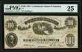 Confederate Notes:1861 Issues, T7 $100 1861 PF-3 Cr. 10 PMG Very Fine 25.. ...