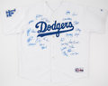 Autographs:Jerseys, 2005 Los Angeles Dodgers Team Signed Jersey (27 Signatures)....