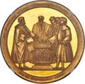 """German States:Hamburg, German States: Hamburg. Free City gold """"Civic Constitution"""" Portugalöser of 10 Ducats 1828 MS63+ NGC..."""