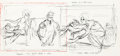 Animation Art:Production Drawing, The Rescuers Madame Medusa and Mr. S...