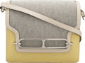 Luxury Accessories:Bags, Hermès 23cm Jaune Poussin Evercolor Leather & Toile Roulis Bag with Palladium Hardware. X, 2016. Condition: 1. 9.5...
