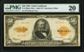Large Size:Gold Certificates, Fr. 1200a $50 1922 Mule Gold Certificate PMG Very Fine 20.. ...