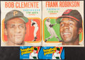 Baseball Cards:Sets, 1970 Topps Baseball Posters Complete Set (24) And 1972 Topps Posters (15) Plus Wrappers (9)....