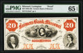 Obsoletes By State:Missouri, Lexington, MO- Farmers Bank of Missouri $20 18__ as G48a Proof PMG Gem Uncirculated 65 EPQ.. ...