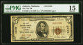 National Bank Notes:Alabama, Auburn, AL - $5 1929 Ty. 1 The First National Bank Ch. # 12455 PMG Choice Fine 15.. ...