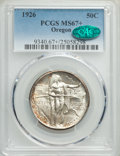 1926 50C Oregon MS67+ PCGS. CAC. PCGS Population: (123/2 and 23/1+). NGC Census: (65/2 and 6/0+). CDN: $600 Whsle. Bid f...