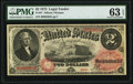 Large Size:Legal Tender Notes, Fr. 47 $2 1875 Legal Tender PMG Choice Uncirculated 63 EPQ.. ...