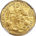 Italy:Papal States, Italy: Papal States. Pius VI gold Zecchino Anno II (1776) MS65 NGC,...