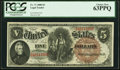 Large Size:Legal Tender Notes, Fr. 71 $5 1880 Legal Tender PCGS Choice New 63PPQ.. ...