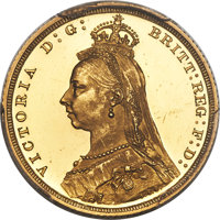 Great Britain: Victoria gold Proof Sovereign 1887 PR62 Deep Cameo PCGS