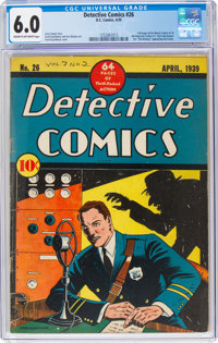 Detective Comics #26 (DC, 1939) CGC FN 6.0 Cream to off-white pages