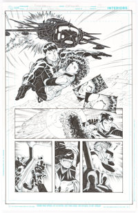 Norm Rapmund The Ravagers #1 Story Page 9 Original Art (DC Comics, 2012)