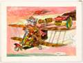 Original Comic Art:Illustrations, Plane Illustration Original Art (1969)....