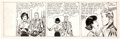 Gene Hughes (attributed) Mike Reagan Tryout Comic Strip Unfinished Original Art (c. 1950s)