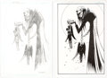 Original Comic Art:Miscellaneous, Dean Ormston - Lucifer Preliminary Character Design Original Art Group of 2 and Signed Limited Edition Convention ... (Total: 2 Original Art)