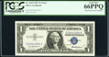 Error Notes:Mismatched Serial Numbers, G55/54 Mismatched Serial Number Error Fr. 1619 $1 1957 Silver Certificate. PCGS Gem New 66PPQ.. ...