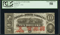 Raleigh, NC- State of North Carolina $10 Jan. 1, 1863 Cr. 122 PCGS Choice About New 58